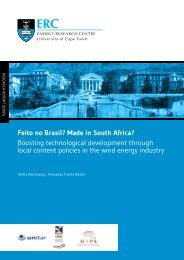 Feito no Brasil? Made in South Africa? - erc - University of Cape Town