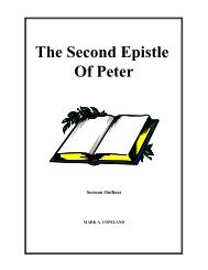 The Second Epistle Of Peter - Executable Outlines