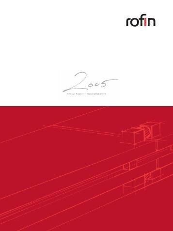 Annual Report Geschäftsbericht - Rofin