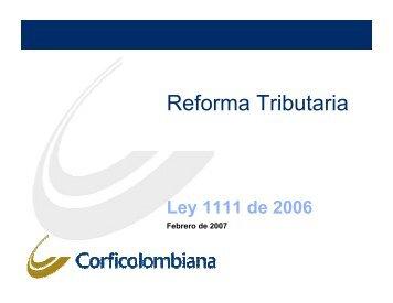 Reforma Tributaria - Corficolombiana