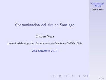Contaminación del aire en Santiago - Index of - Departamento de ...