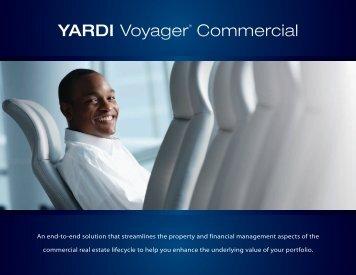 YARDI VoyagerTM Commercial - Yardi Systems UK