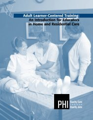 Adult Learner-Centered Training: An Introduction for Educators ... - PHI