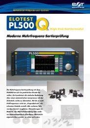 pl500 elotest - Rohmann GmbH