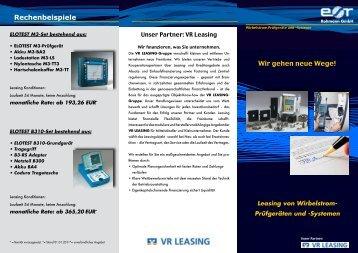 Wir gehen neue Wege! Rechenbeispiele - Rohmann GmbH