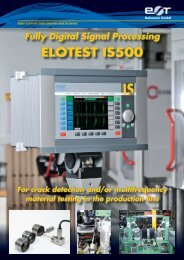 Fully Digital Signal Processing ELOTEST IS500 ... - Rohmann GmbH