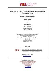 Profiles of For-Profit Education Management Organizations
