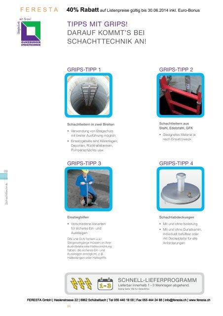 Schachtleitern aus Stahl, V4A und GFK - FERESTA GmbH