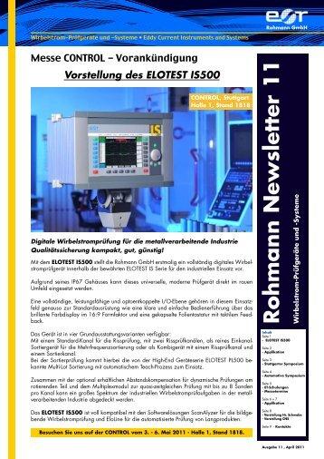 """Newsletter"" Nr.11 - Rohmann GmbH"