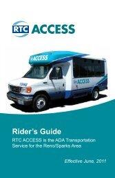 Rider's Guide - RTC Regional Transportation Commission