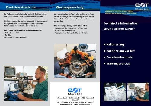 Technische Information Funktionskontrolle ... - Rohmann GmbH