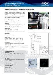 Inspection of ball pivots/globe joints Automotive ... - ROHMANN