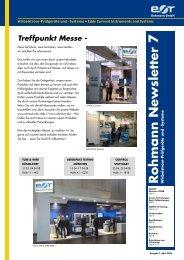 Rohmann Newsletter - Rohmann GmbH
