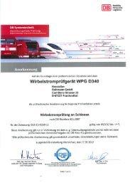 +++ Anwenderfreigabe für die Draisine WPG ... - Rohmann GmbH