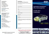 Automotive Symposium - ZfP an Fahrzeugteilen ... - Rohmann GmbH