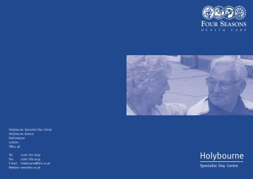 Holybourne Specialist Day Centre Brochure - Four Seasons Health ...
