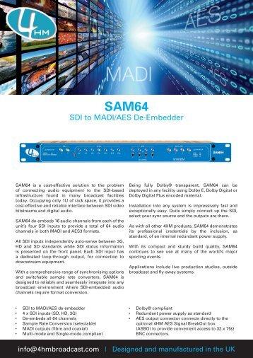 SDI to MADI/AES De-Embedder - 4HM