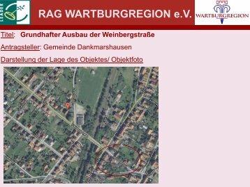 Grundhafter Ausbau der Weinbergstraße - RAG Wartburgregion