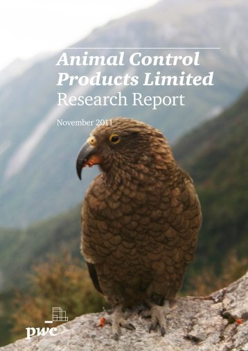 Animal Control Products Ltd - Equity Analyst Valuation Report 2011 ...