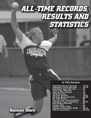 All-Time Series Records - College of Charleston Athletics