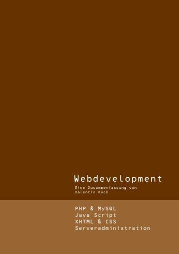5.15 Objektorientierte Webentwicklung - valentinkoch.de