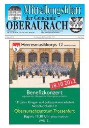 Jahrgang 2012 Freitag, den 28. September 2012 ... - Oberaurach