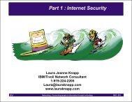 Part 1 : Internet Security - Laura Jeanne Knapp