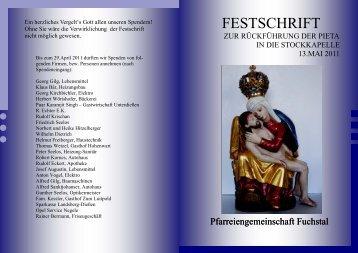Festschrift der Stockkapelle - Bistum Augsburg