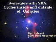 Synergies with SKA: Cycles inside and outside Galaxies