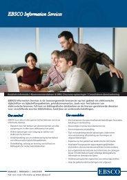 Download factsheet - EBSCO Information Services