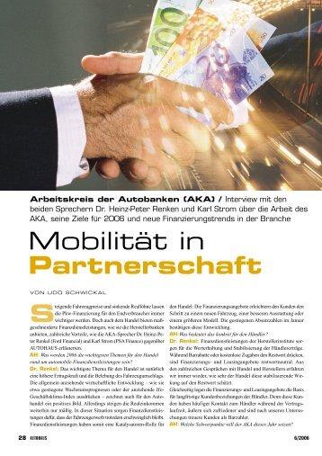 Partnerschaft - Arbeitskreis der Autobanken