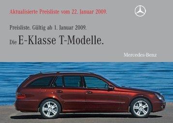Die E - Klasse T-Modelle. - Preislisten