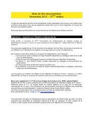 L'Algérie(s) en PDF - Le Mois du Film Documentaire