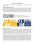 Annual Report - Dalhousie Journal of Interdisciplinary Management - Page 7