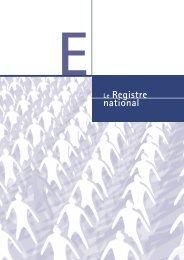 Le Registre national (pdf)