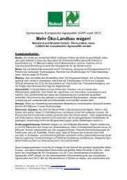 Gemeinsame Europäische Agrarpolitik (GAP) nach 2013 - Naturland