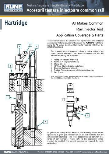 Hartridge Accesorii testare injectoare common rail