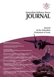 ISSUE 177 : Nov/Dec - 2008 - Australian Defence Force Journal