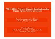 PROBIOGÁS: Proyecto Singular Estratégico sobre Biogás ...