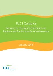 RLE 1 Guidance - The Rural Payments Agency - Defra