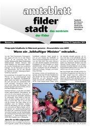 """Wenn ein """"leibhaftiger Minister"""" mitradelt... - Stadt Filderstadt"""
