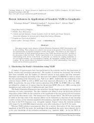 Recent Advances in Applications of Geodetic VLBI to Geophysics - IVS