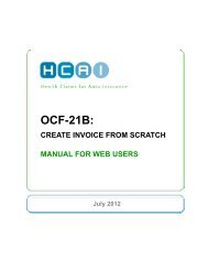 OCF-21B: Creating invoice from scratch - HCAI