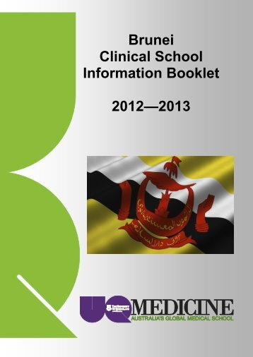 Brunei Information Booklet - School of Medicine - University of ...