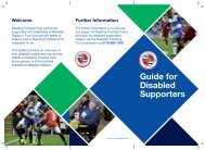 Guide for Disabled Supporters - Reading FC
