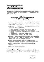 odluka o organizovanju sot 2013 - bihamk