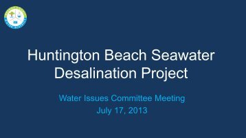 Background Information - Orange County Water District