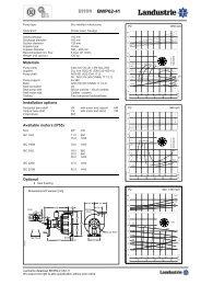 Datasheets BWP62 series 50 c/s - Landustrie