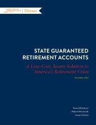 State Guaranteed retirement accountS - Demos
