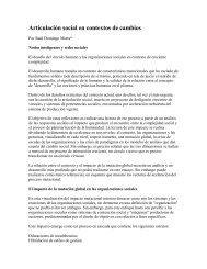 Articulación social en contextos de cambios - Territorio Chile